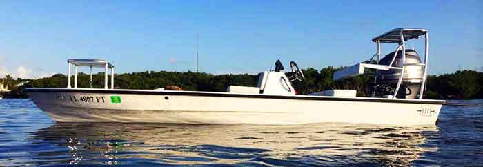 Miami Fishing Charters skiff Hells Bay Pro