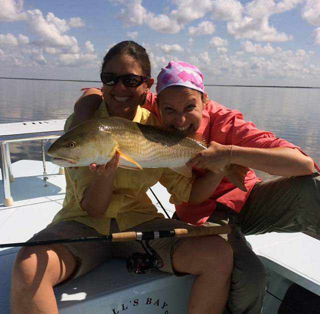 Flamingo Fishing Guide Charter clients with redfish
