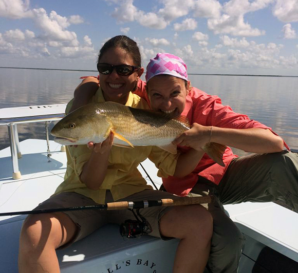 Flamingo Fishing Guides clients with redfish